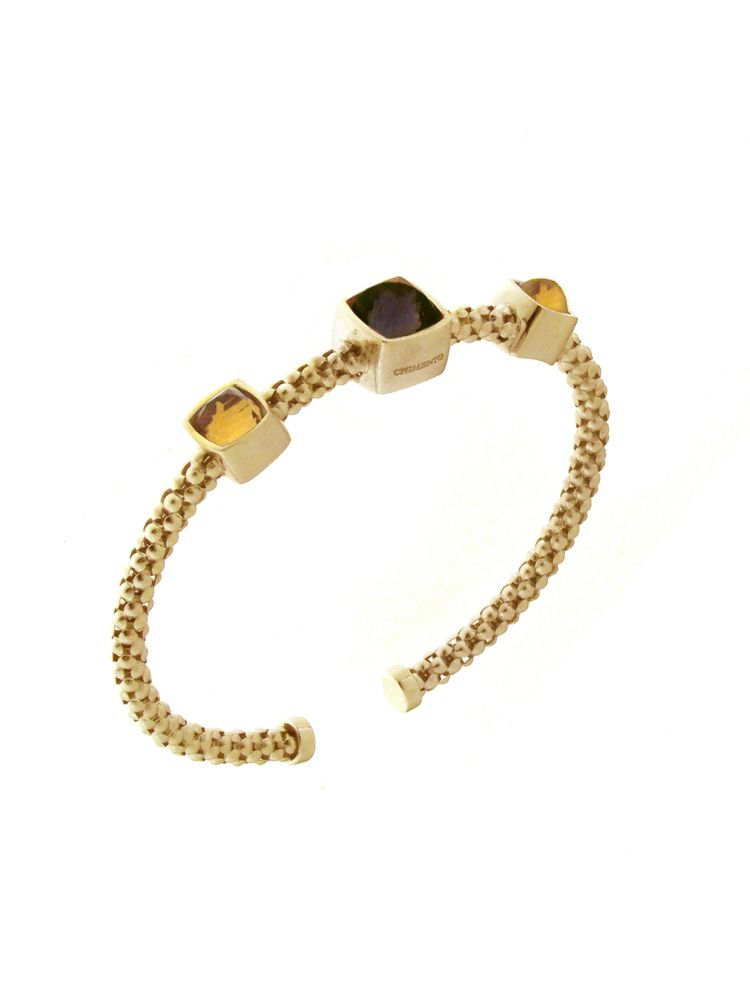 Chimento 18K Bracelet in yellow gold with quartz and citrine