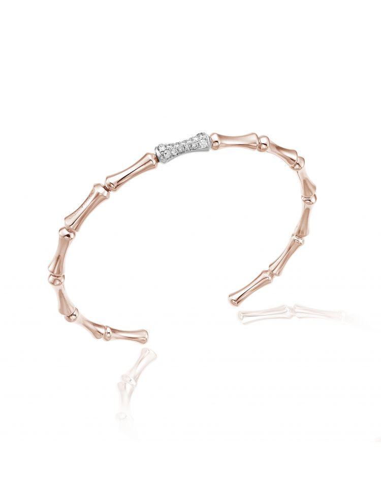 Chimento 18K Bracelet in white and pink gold with diamonds