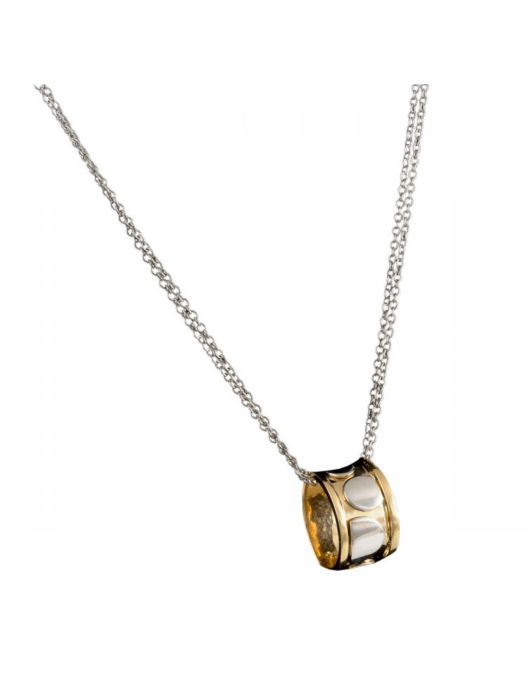 Talento Italiano white and yellow gold pendant