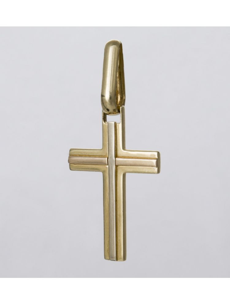 Chimento yellow and white gold cross pendant