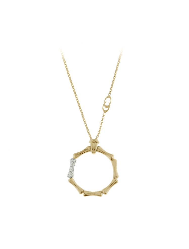 Chimento 18K Necklace in white and yellow gold with diamonds
