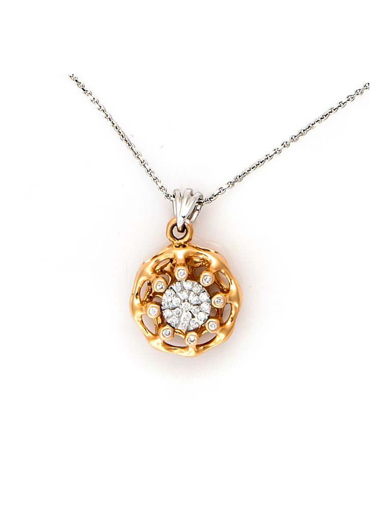 Chimento white and pink gold pendant with diamonds