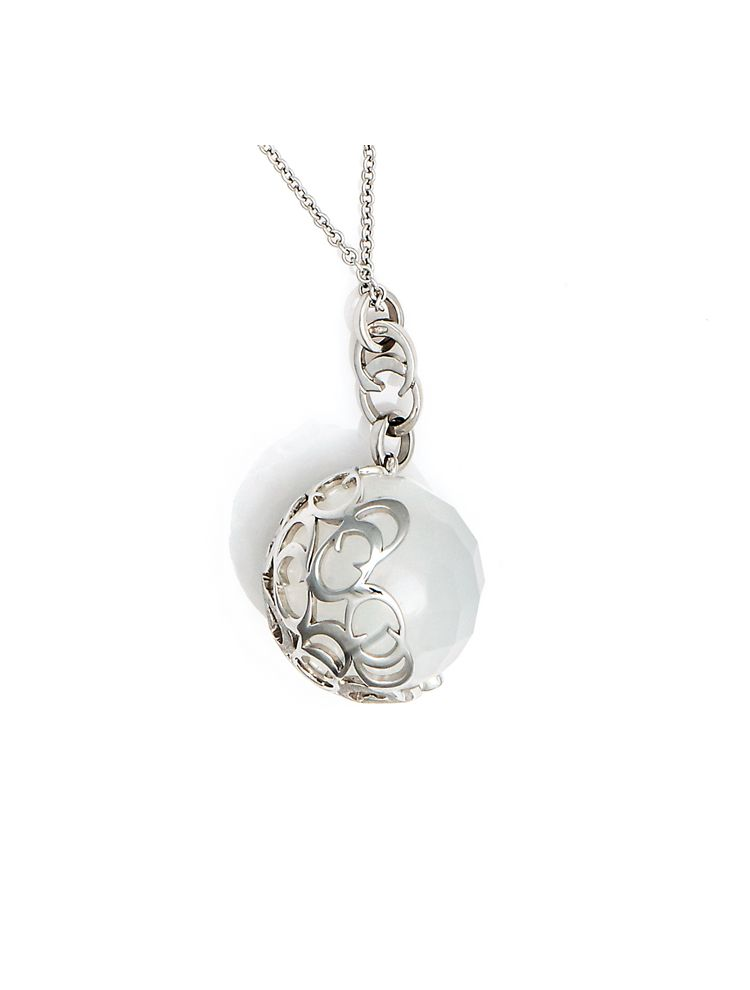 Chimento chain and pendant with moonstone and diamond