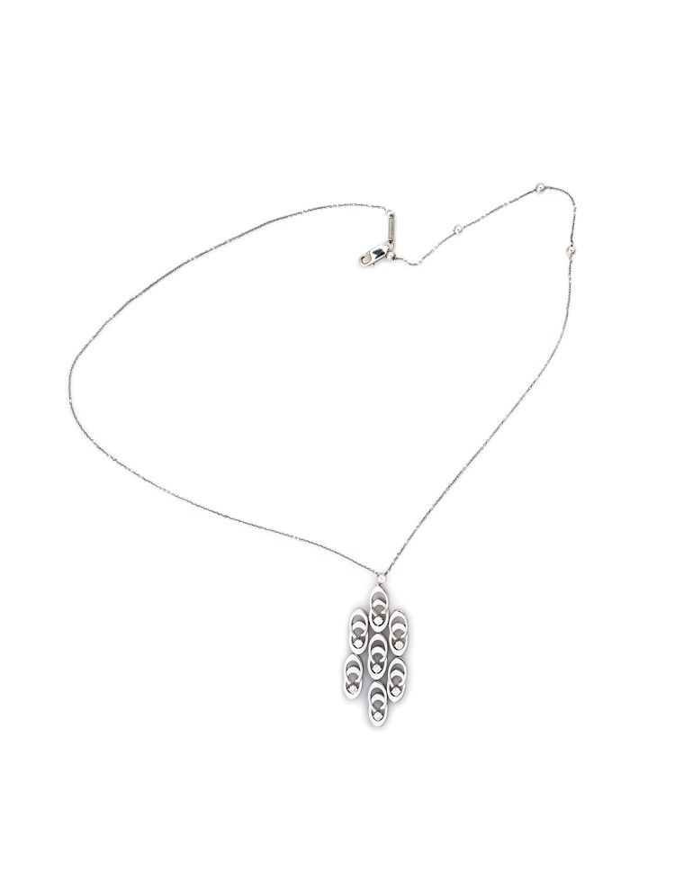 Chimento white gold chain and pendant with diamonds