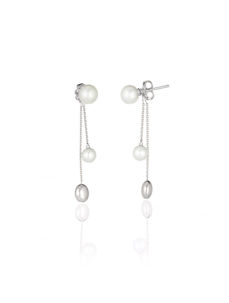 Chimento 18K Earrings in white gold with pearl