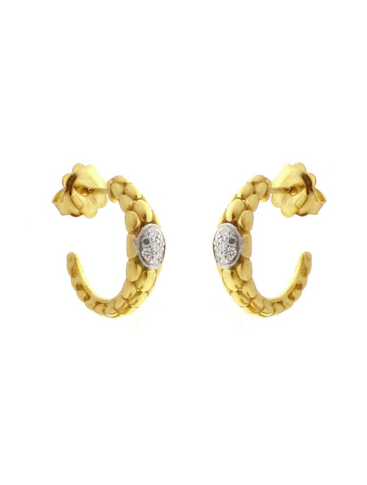 Chimento 18K Earrings in white and yellow gold with diamonds