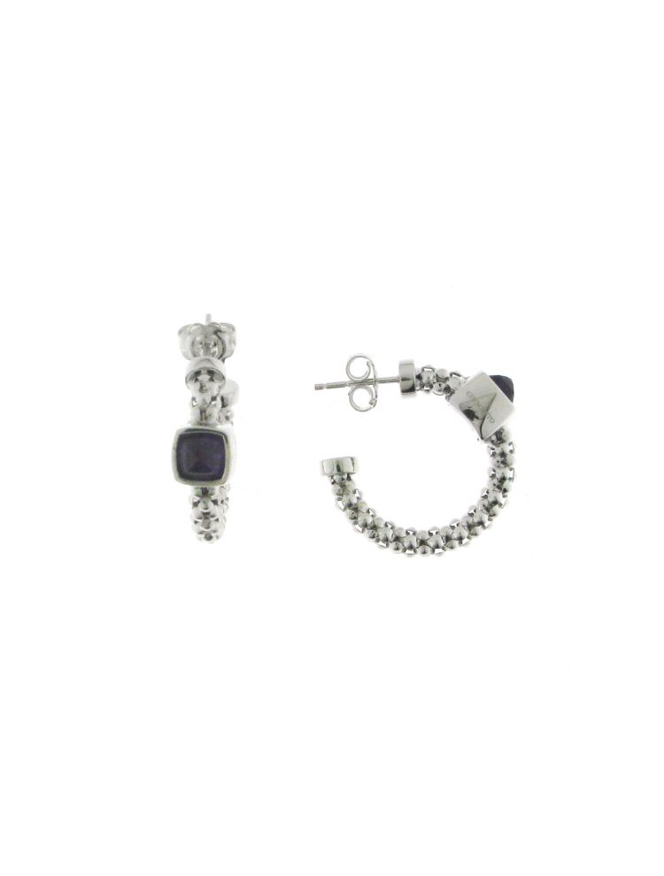 Chimento 18K Earrings in white gold with amethyst