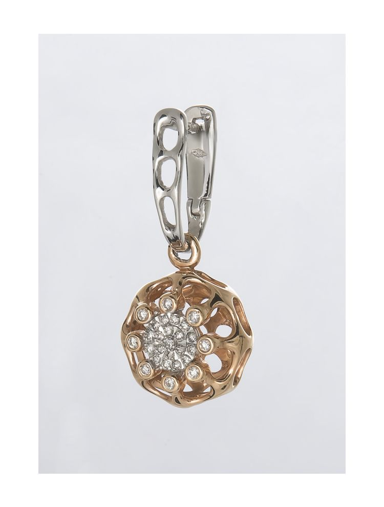 Chimento white and pink gold earrings with diamonds