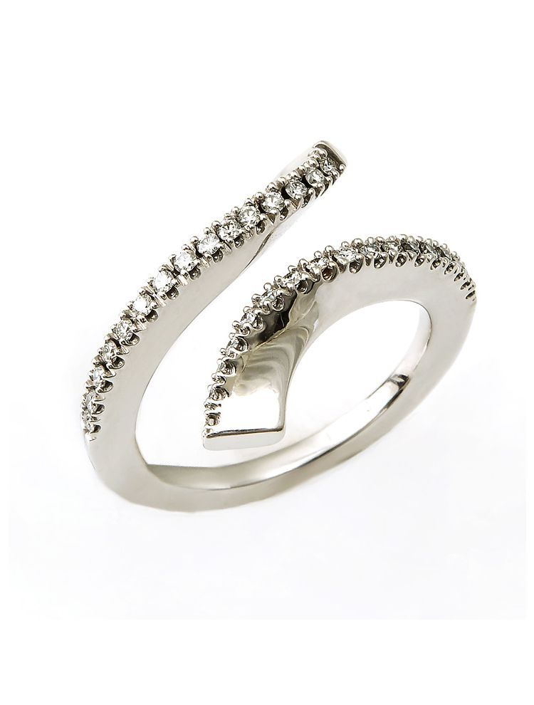Damiani white gold ring with diamonds
