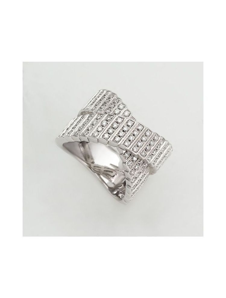 Salvini white gold ring with diamonds