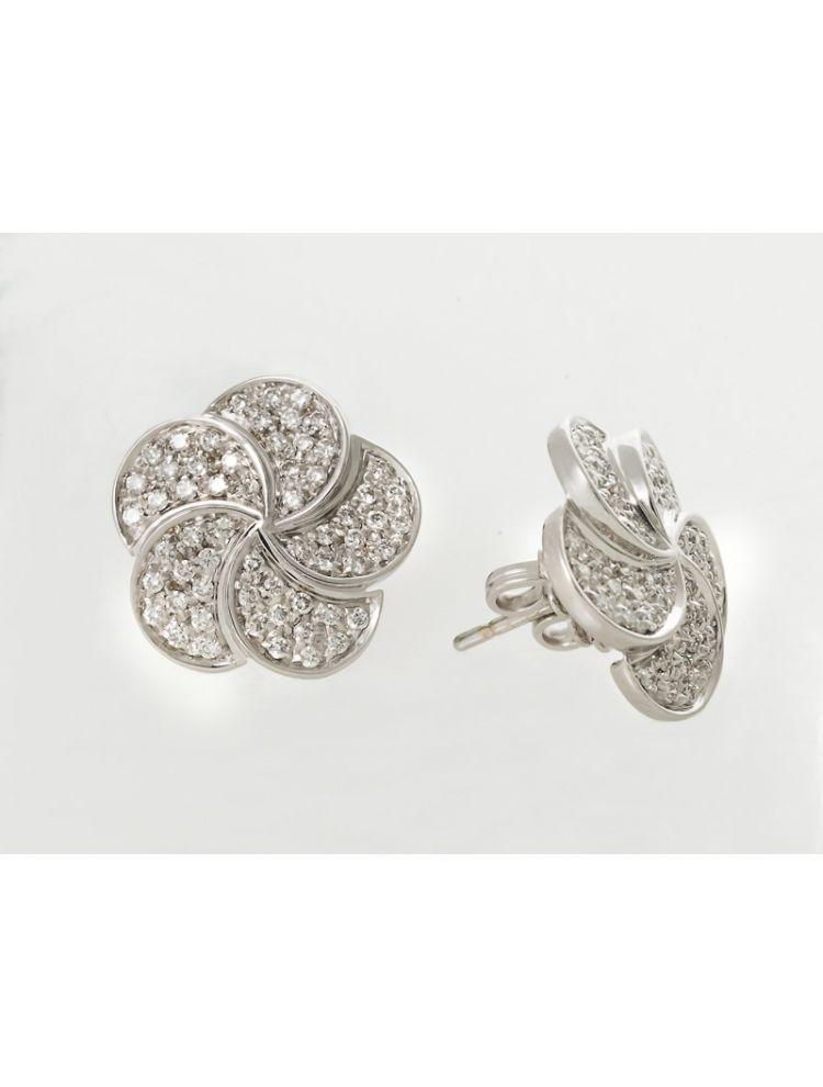 Salvini white gold Flower earrings with diamonds