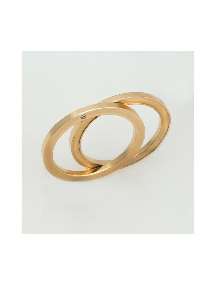 Salvini yellow gold wedding bands with diamonds