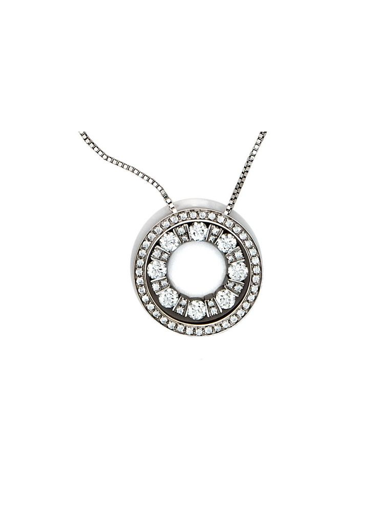 Damiani white gold chain and pendant with diamonds