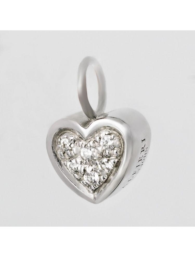 Alfieri & St.John pendant with white diamonds and white gold