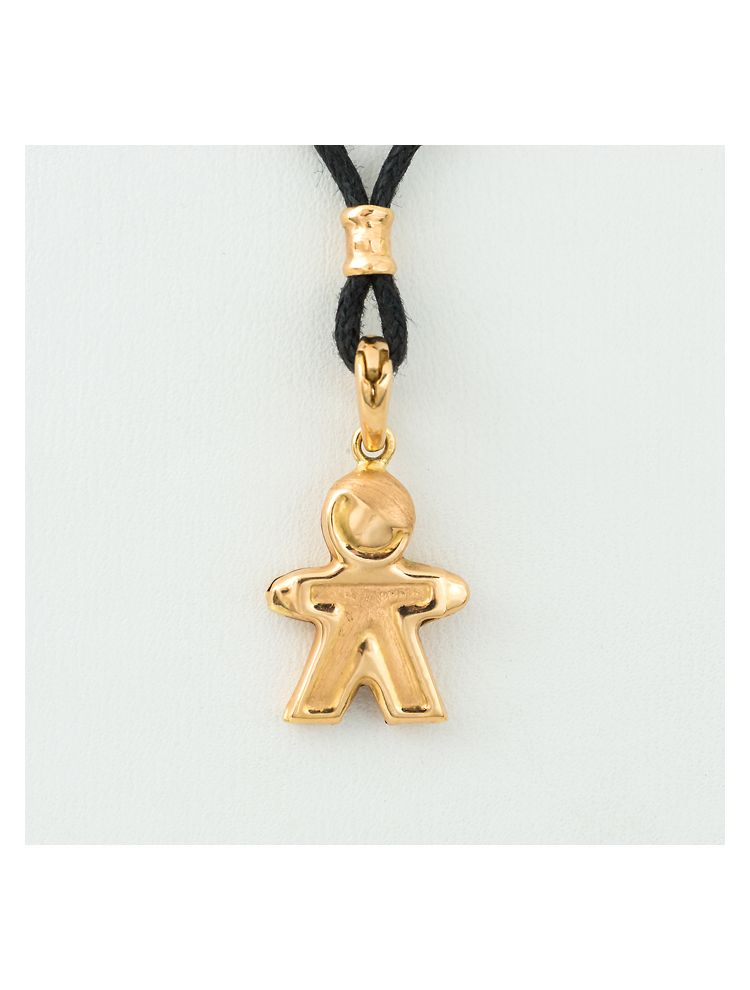 Alfieri & St.John yellow gold boy pendant