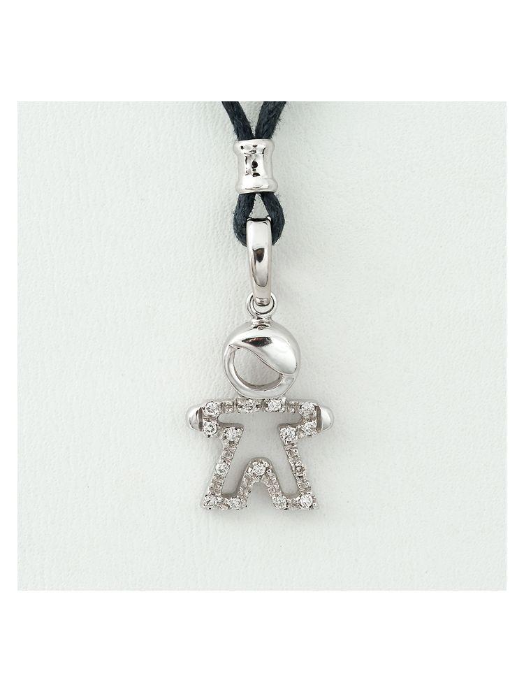 Alfieri & St.John white gold boy pendant