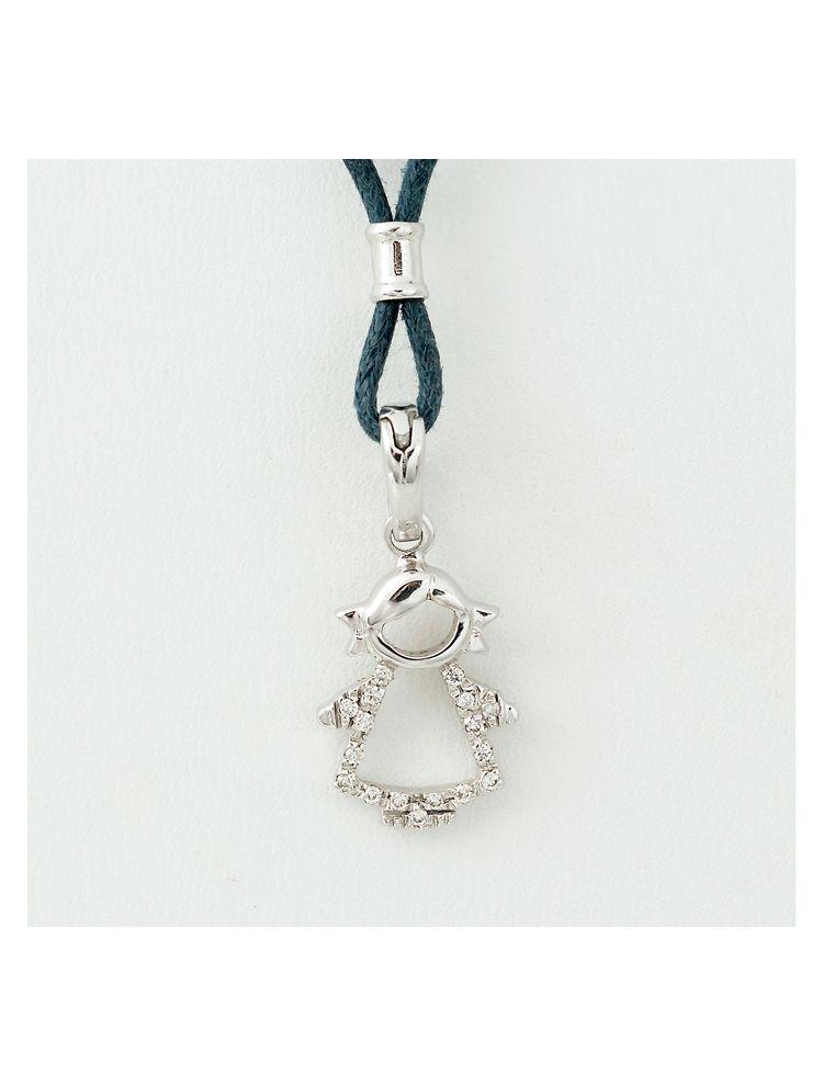 Alfieri & St.John white gold girl pendant with diamonds