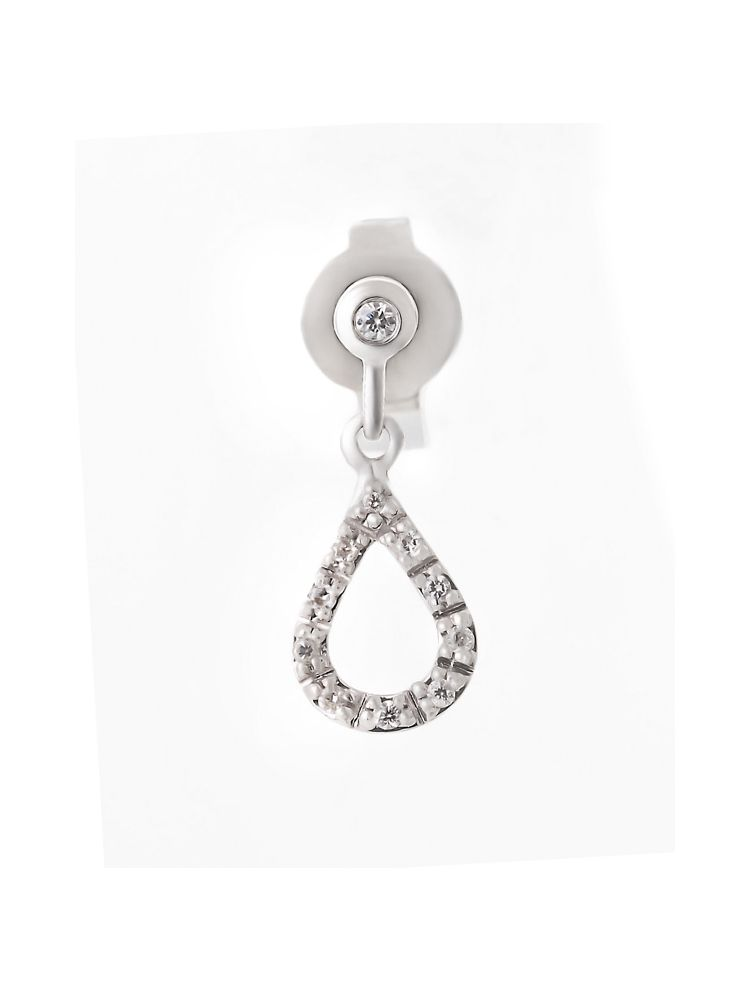Bliss white gold earrings with diamonds