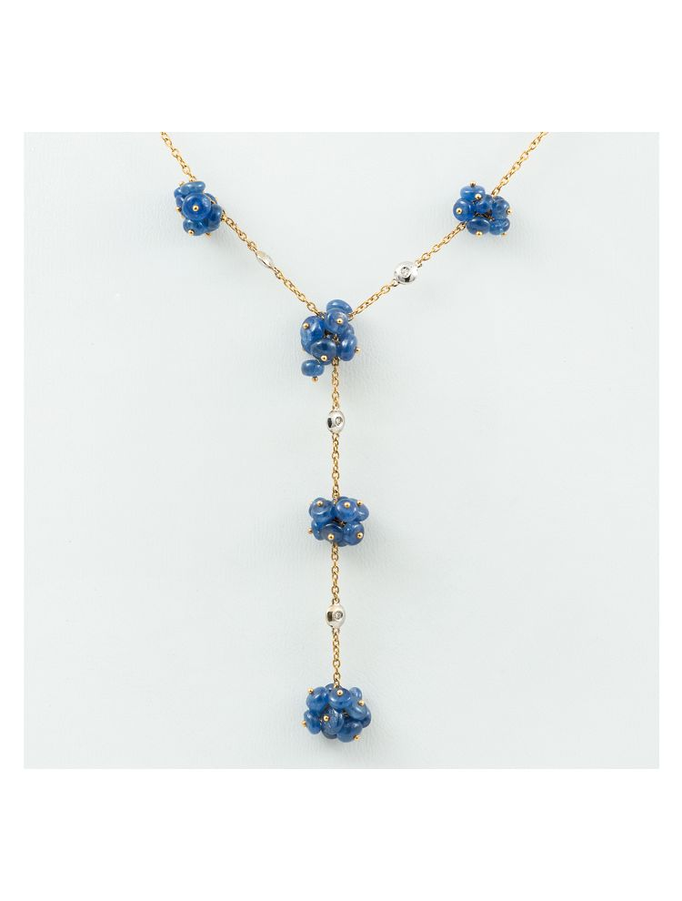 Alfieri & St.John necklace with blue sapphires and diamonds