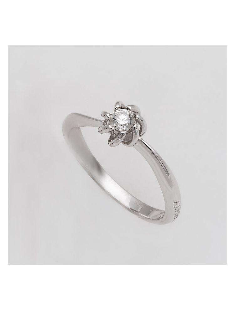 Alfieri & St.John white gold engagement ring with diamonds