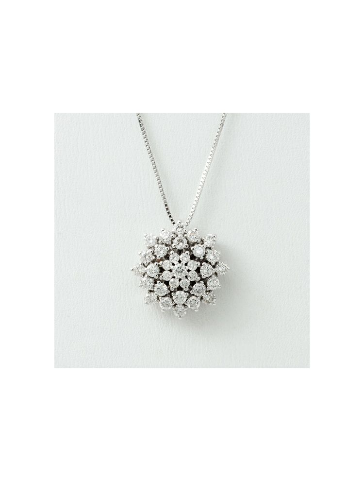 Alfieri & St.John white gold chain and pendant with diamonds