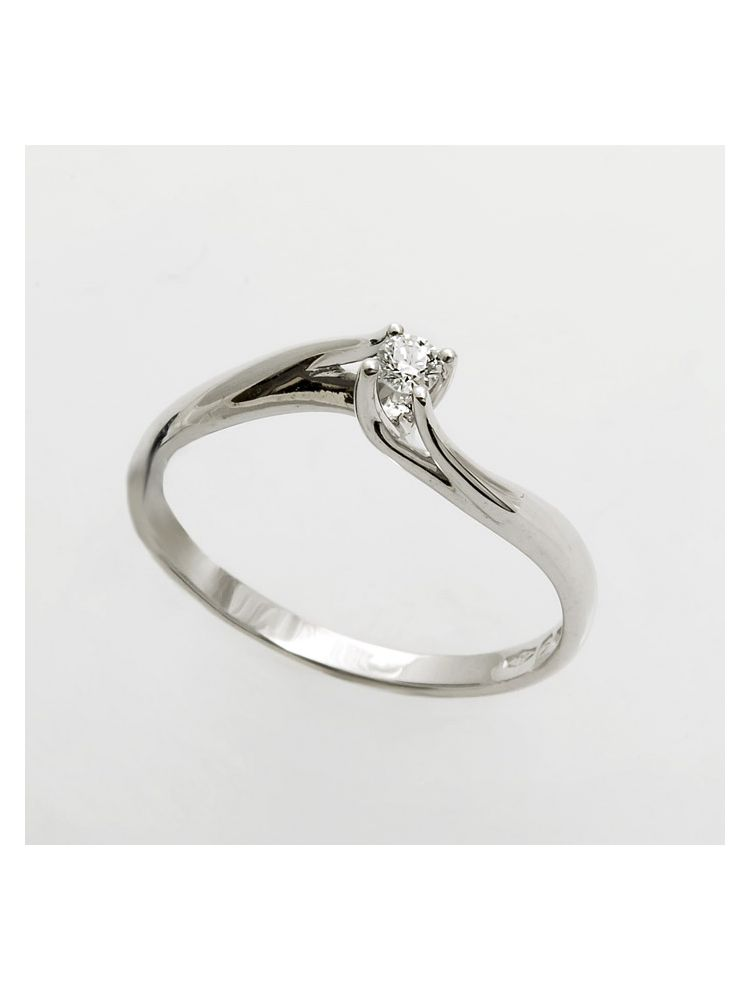 Bliss white gold engagement ring with diamonds