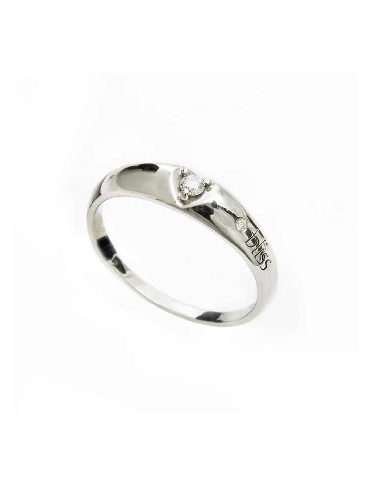 Bliss white gold ring with diamond