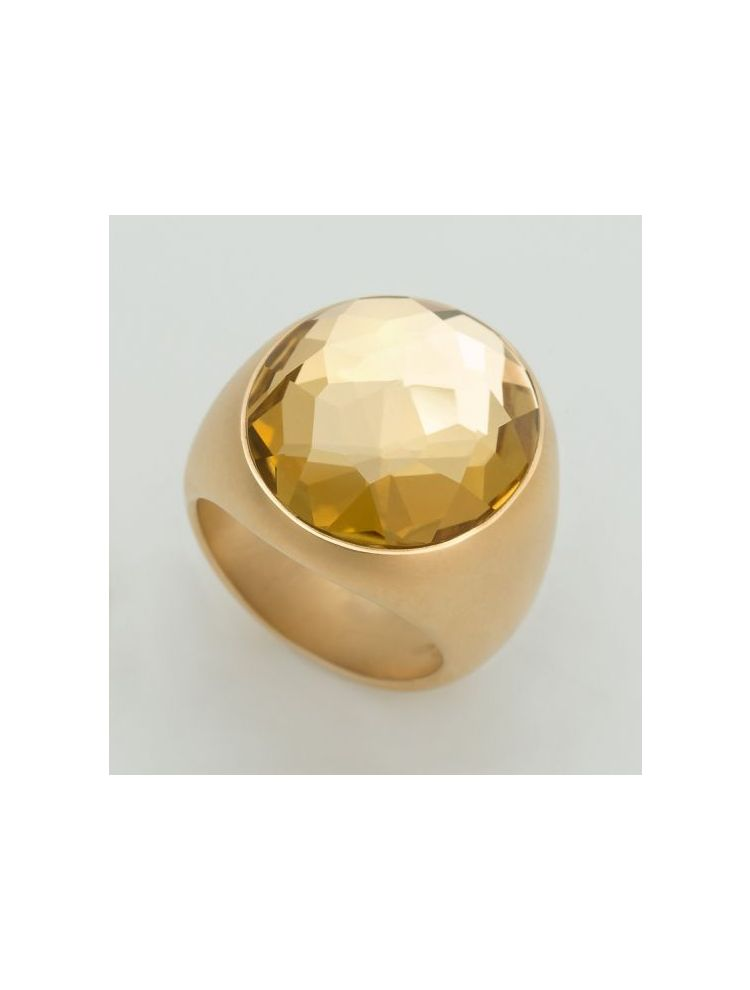 Pomellato yellow gold ring with yellow citrine