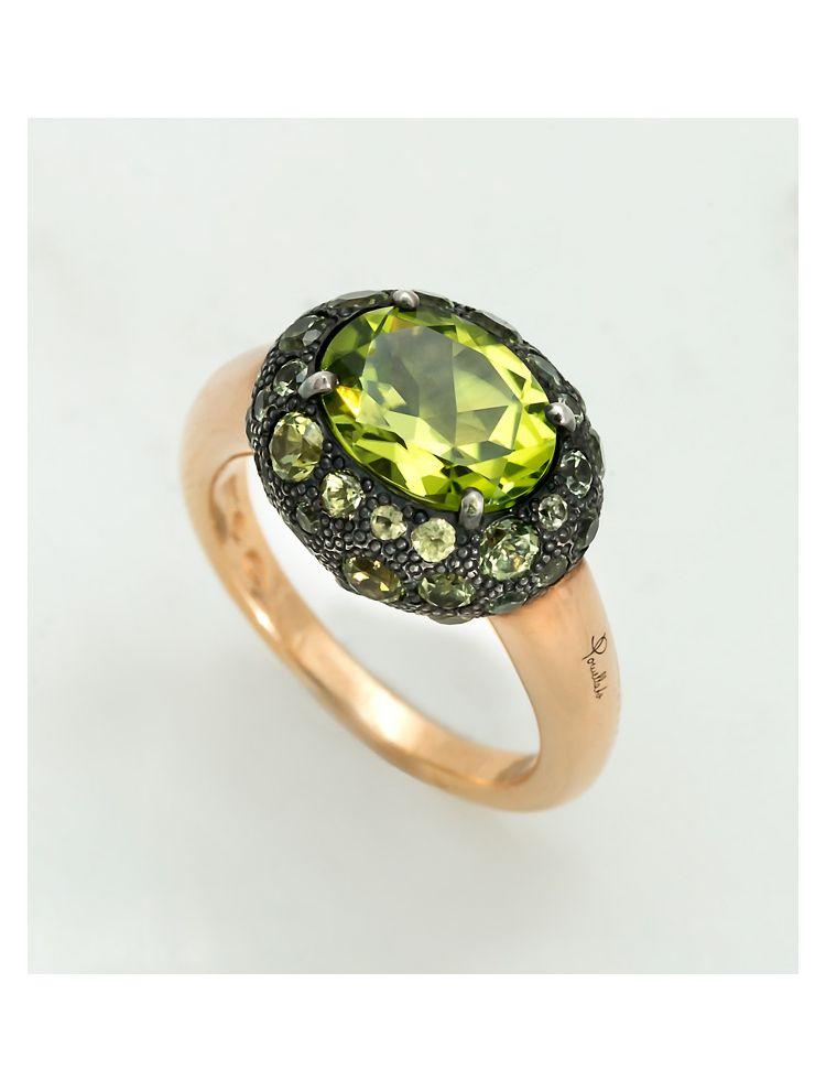 Pomellato yellow gold ring with tsavorite