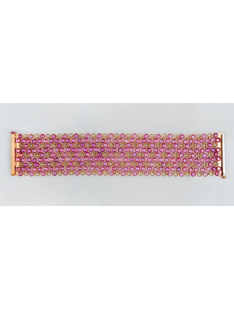 Reho pink gold bracelet with sapphires