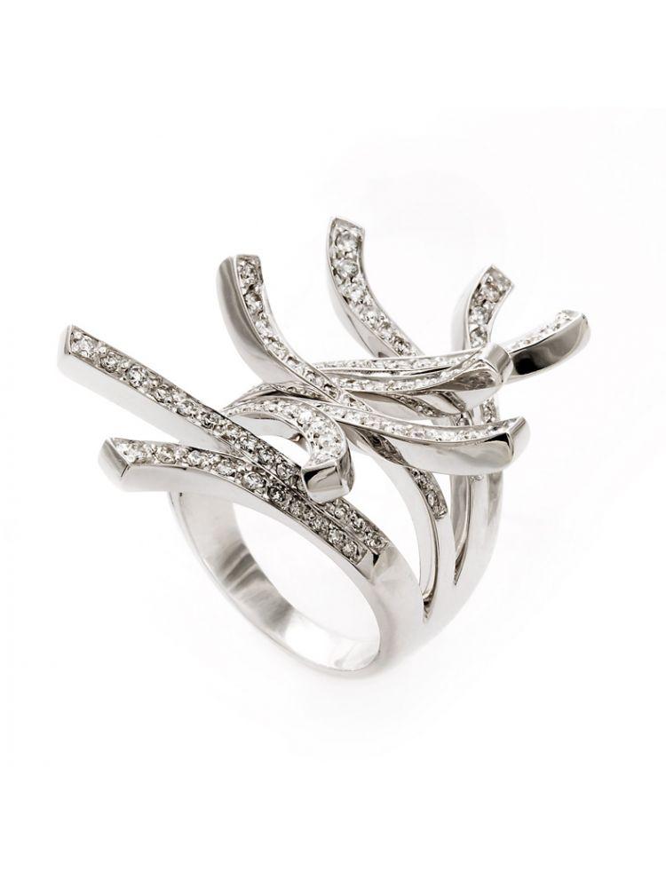 Yessayan white gold ring with diamonds
