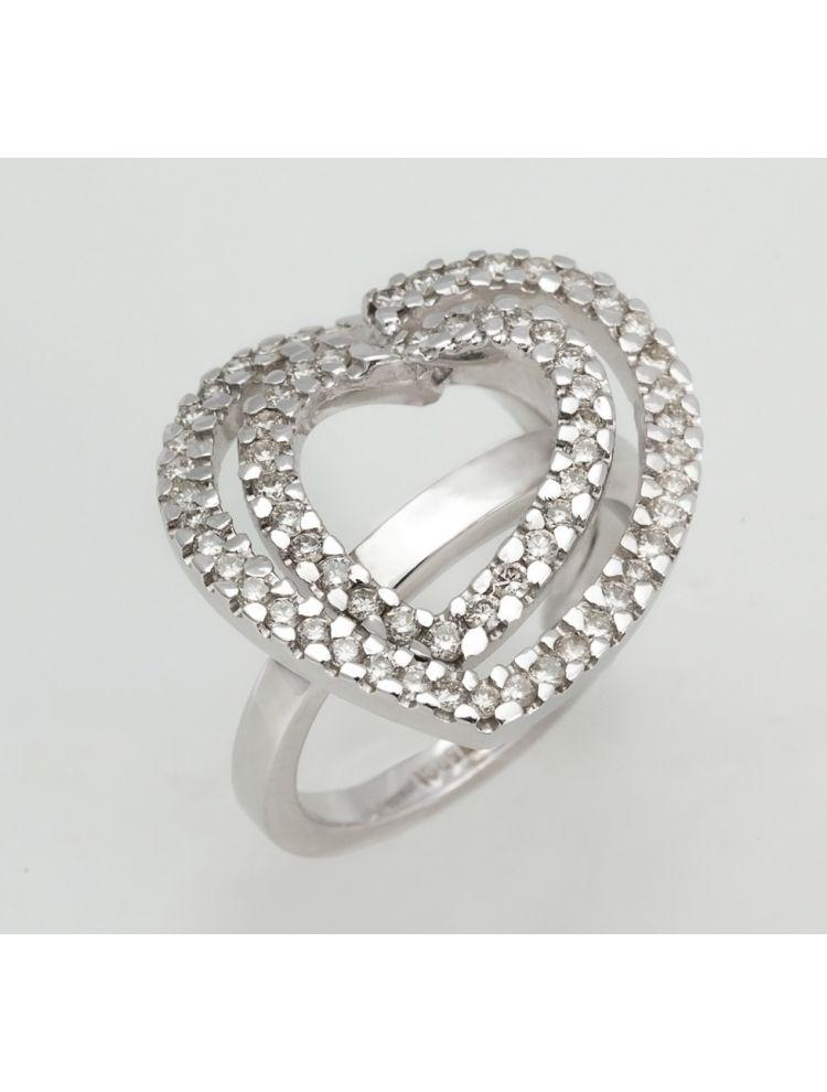 Yessayan white gold ring heart shape