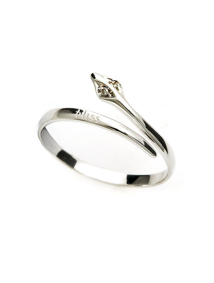 Bliss white gold ring with diamonds