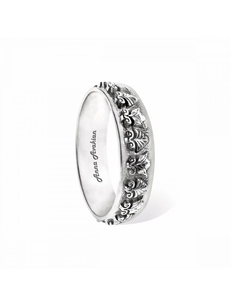 Anna Avakian white gold wedding band