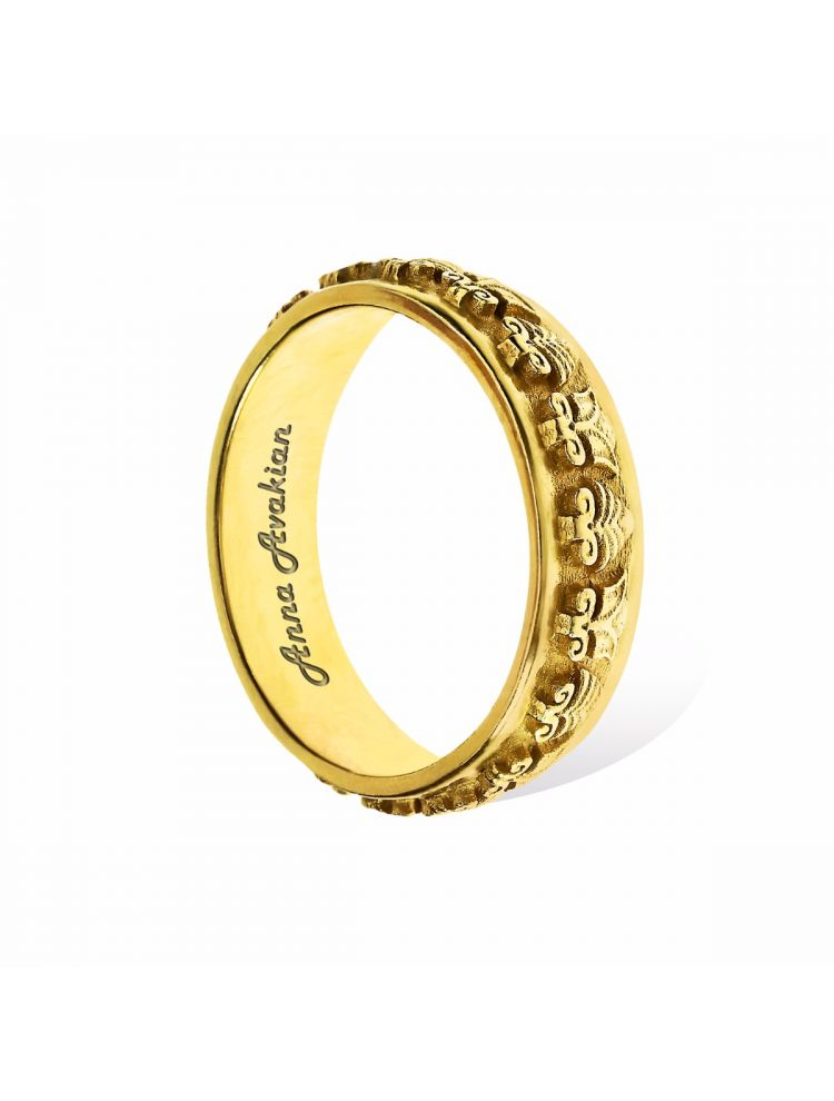 Anna Avakian yellow gold wedding band