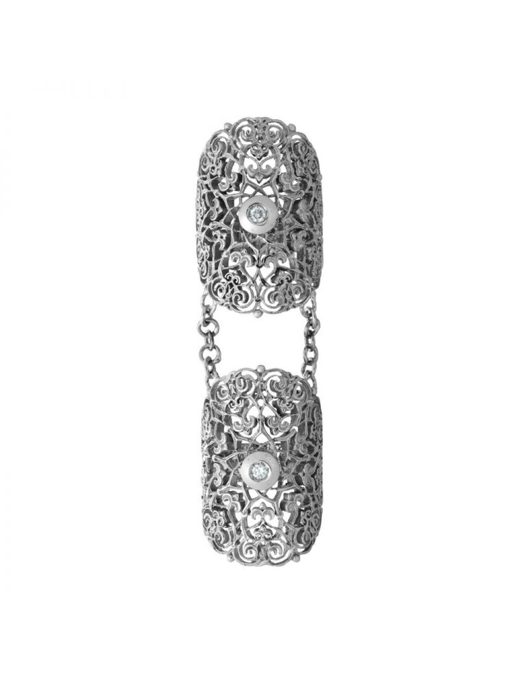 Anna Avakian white gold double ring