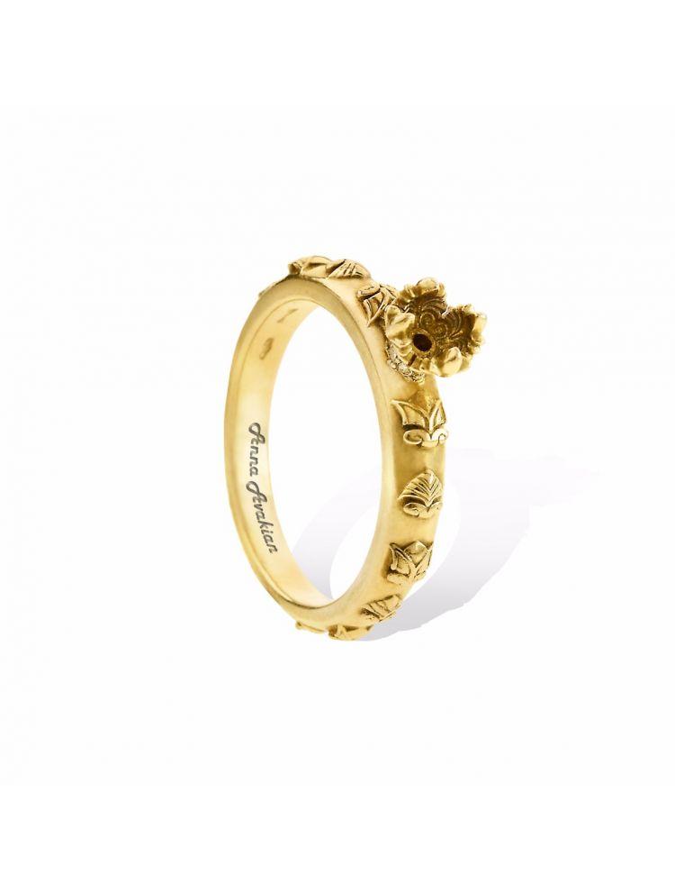 Anna Avakian yellow gold engagement ring