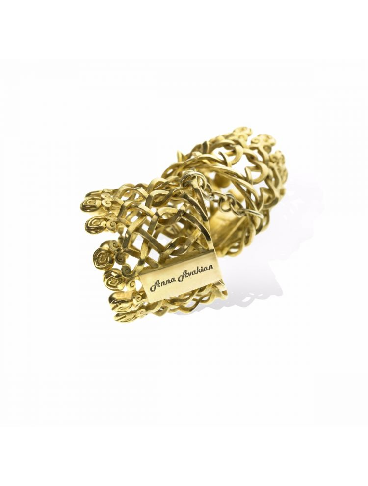 Anna Avakian yellow gold double ring