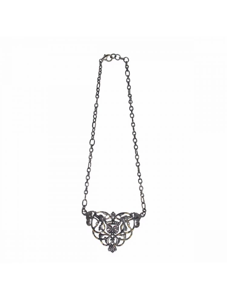 Anna Avakian silver necklace with gold