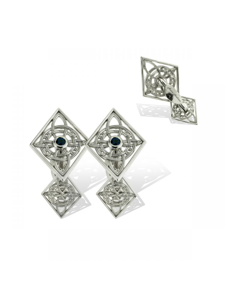 Anna Avakian white gold cufflinks