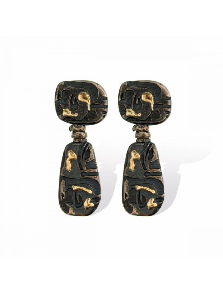 Anna Avakian yellow gold and silver earrings