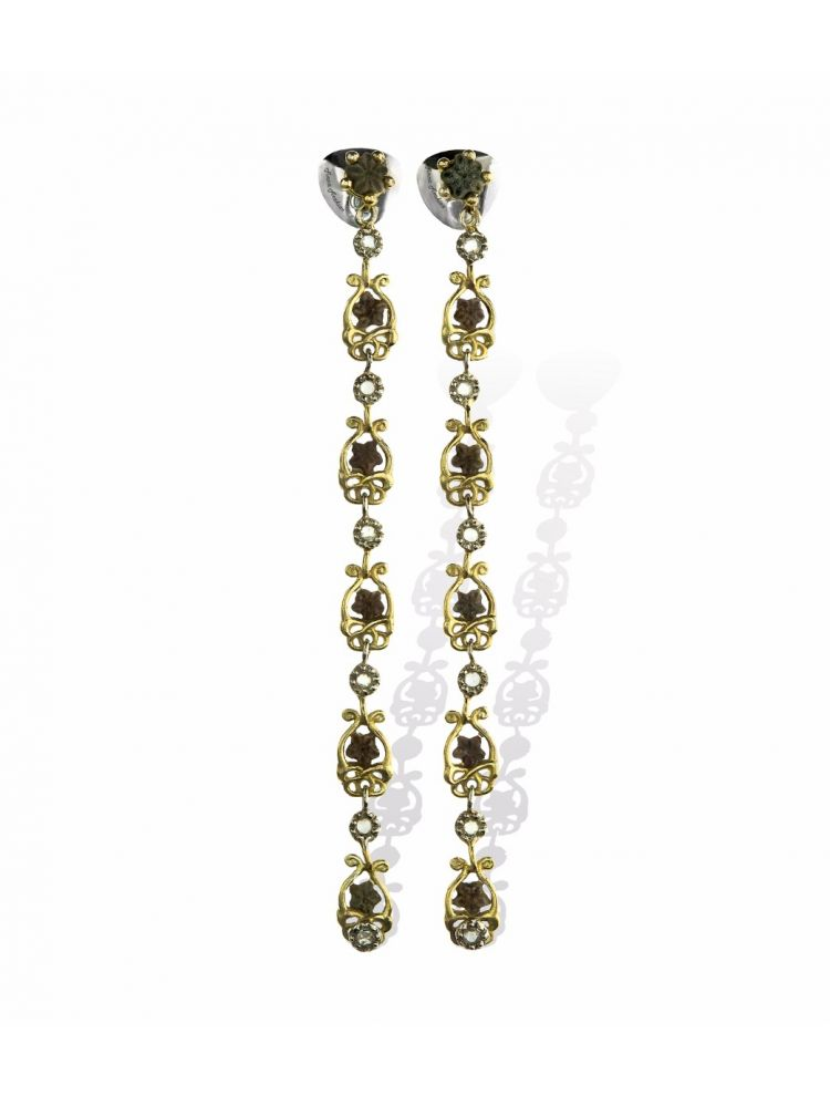 Anna Avakian pendant earrings with star stones