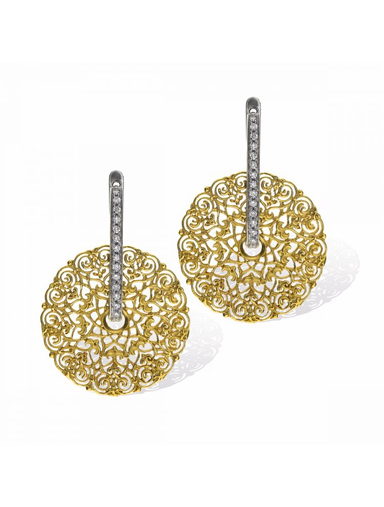 Anna Avakian yellow gold earrings