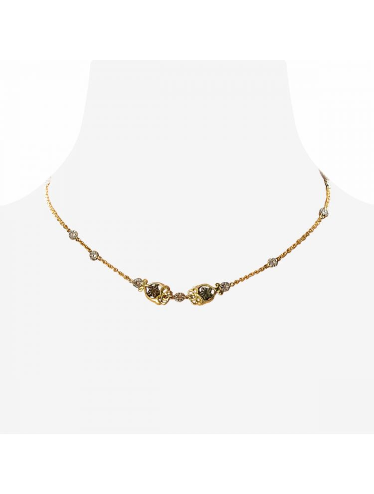 Anna Avakian gold necklace and earrings