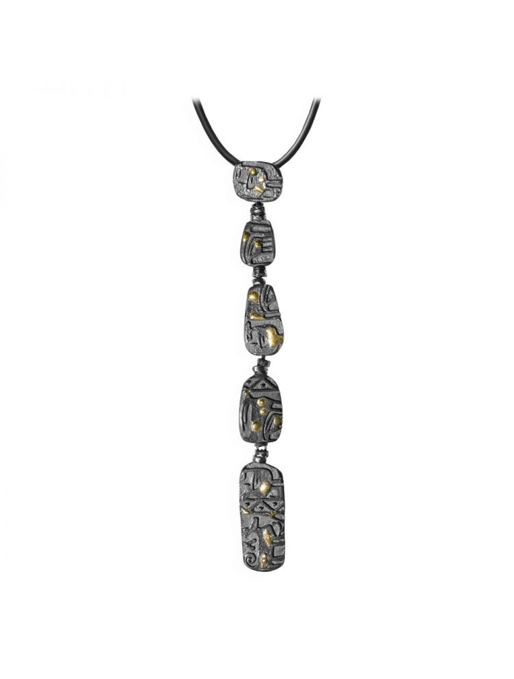 Anna Avakian yellow gold and silver pendant