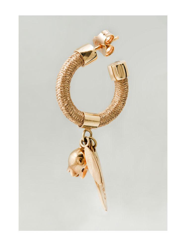 Calgaro pink gold earrings