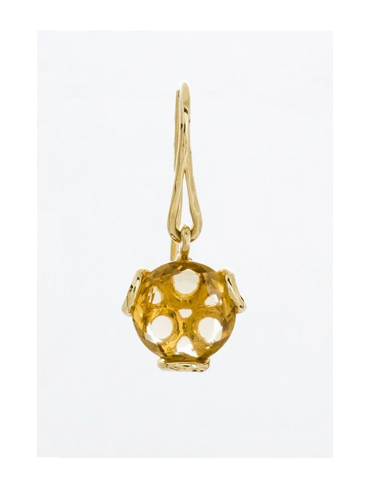 Calgaro gold earrings with citrine