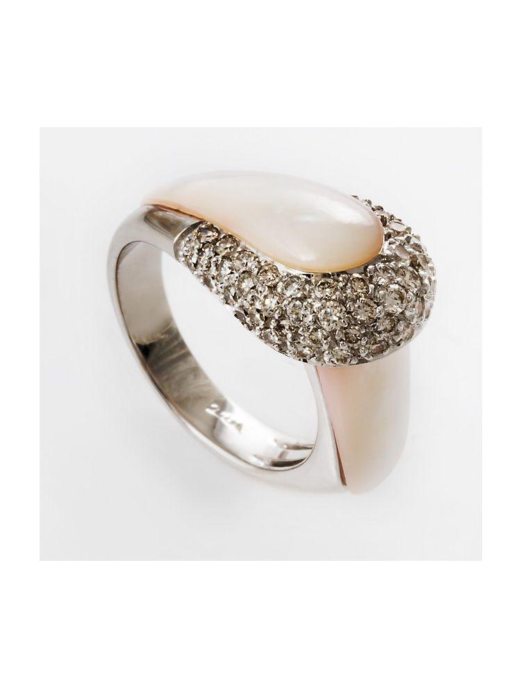 Yessayan white gold and diamond ring